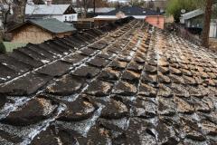 """Slightly"" weathered roof shingles"
